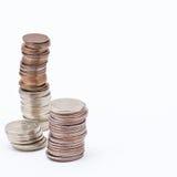 Vorräte an Münzen Lizenzfreie Stockfotos