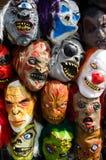 Vorrat an Masken für Halloween Lizenzfreie Stockfotos