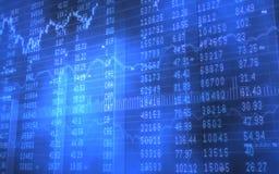 Vorrat-und Börsentelegraf-Daten bezüglich der blauen Stangen Lizenzfreies Stockbild