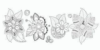 Vorratsatz des flolar Blumenstraußes orientalisch oder arabisch, Russland t lizenzfreie abbildung