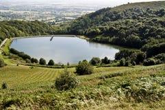 Vorratsbehälter an den malvern Hügeln, Worcestershire Lizenzfreies Stockfoto