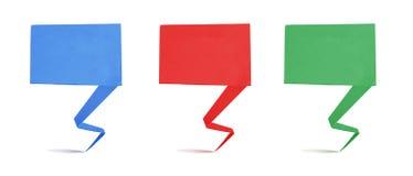 Vorsatz origami Marke aufbereiteter Papierfertigkeitsteuerknüppel lizenzfreies stockfoto