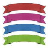 Vorsatz origami Marke aufbereitetes Papier. stockfoto