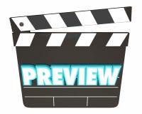 Vorschau-Film, der bald Scharnierventil-Brett kommt Lizenzfreie Stockbilder