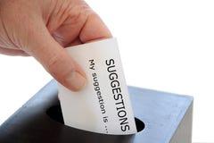 Vorschlags-Kasten Lizenzfreie Stockfotos