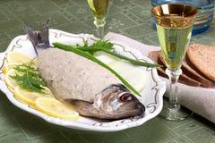 Vorschmack, pesce tagliato, aringa tagliata Fotografia Stock
