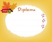 Vorschulvolksschule Kinderdiplom-Zertifikathintergrund Lizenzfreie Stockbilder