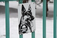 Vorsicht, bissiger Hund Stockfotografie