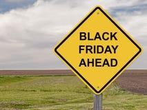 Vorsicht - Black Friday voran Stockbilder
