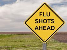 Vorsicht - Grippeimpfungen voran Lizenzfreies Stockfoto