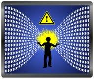 Vorsicht-Informationsüberflutung Stockbilder