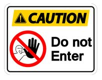 Vorsicht kommen nicht Symbol-Zeichen-Isolat auf weißem Hintergrund, Vektor-Illustration vektor abbildung
