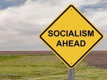 Vorsicht - Sozialismus voran Stockbild