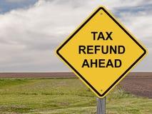 Vorsicht - Steuerrückzahlung voran Stockfotografie