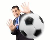 Vorsichtig mit dem Ball lizenzfreie stockfotos