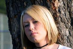 Vorsichtiges blondes Lizenzfreies Stockfoto