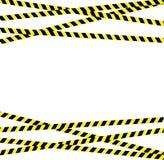 Vorsichtlinie mit den gelben und schwarzen Streifen lizenzfreie abbildung