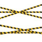 Vorsichtlinien lokalisiert Realistische warnende Bänder Warnschilder Vektorillustration lokalisiert auf kariertem Hintergrund lizenzfreie abbildung