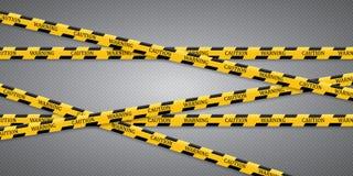 Vorsichtlinien lokalisiert Warnende Bänder Warnschilder vektor abbildung