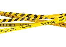 Vorsichtlinien lokalisiert Warnende B?nder Warnschilder Auch im corel abgehobenen Betrag stock abbildung
