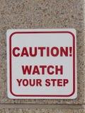 Vorsichtuhr Ihr Schrittzeichen Stockbilder