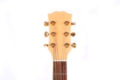 Vorsitzender der Gitarre auf einem weißen Hintergrund Stockfoto
