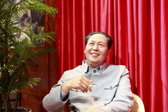 Vorsitzender Maos Wachsfigur lizenzfreie stockbilder