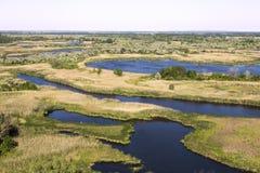 Vorskla river delta . Ukraine royalty free stock image