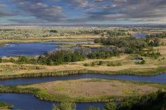 Vorskla rzeka Odgórny widok Ukraina europejczycy fotografia royalty free