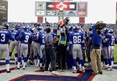 Vorspielaufwärmen des Super Bowl XXXV Lizenzfreies Stockbild