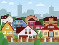 Vorstadthäuser Lizenzfreies Stockbild