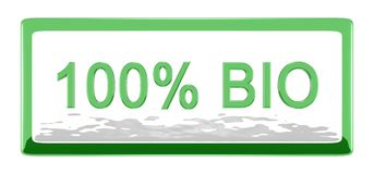 Vorstand 100% Bio Lizenzfreie Stockbilder