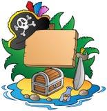 Vorstand auf Pirateninsel lizenzfreie abbildung