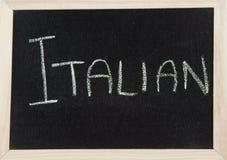 Vorstand mit ITALIENER Lizenzfreie Stockbilder