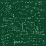 Vorstand mit mathematischen Formeln Stockfotografie