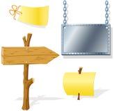 Vorstandpfeil-Schauzeichenmeldung Stockbild