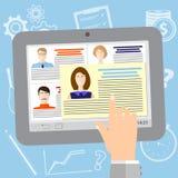 Vorstellungsgespräch-Ikonendesign Rekrutierungsagentur Lizenzfreies Stockbild