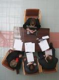 Vorstellungsgespräch - Sitzung Stockbild
