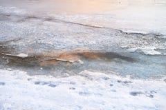 Vorstijs op overzees, wintertijd natuurlijk landschap stock afbeelding
