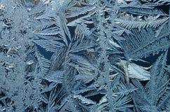 Vorstkristallen stock afbeeldingen