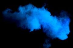 Vorstmotie van blauwe stofexplosie stock afbeeldingen