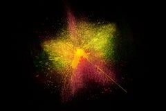 Vorstmotie van het kleurrijke poeder exploderen Stock Afbeeldingen