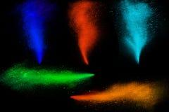 Vorstmotie van het kleurrijke poederverf exploderen Stock Afbeeldingen