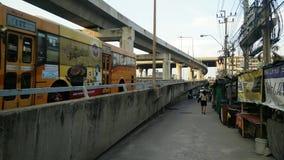 Vorstraße nahe Landstraße im bangna, Bangkok stock video footage