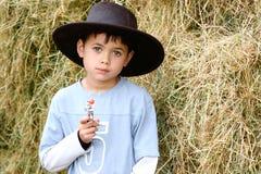 Vortäuschen, ein Cowboy zu sein Lizenzfreie Stockfotos