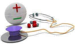Vorteile und Nachteile von Medizin Stockbild