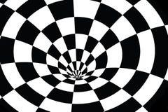 Vortex à carreaux en noir et blanc illustration libre de droits