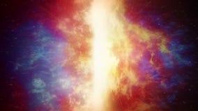 Vortex électrique énorme dans l'espace illustration libre de droits