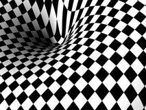 Vortex, background. Monochrome 3D illustration, background of a vortex. Physics concept. Computer generated render, image Stock Photo