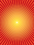 Vortex background. Made of spheres and gradients in yellow, orange and red tones Stock Photos